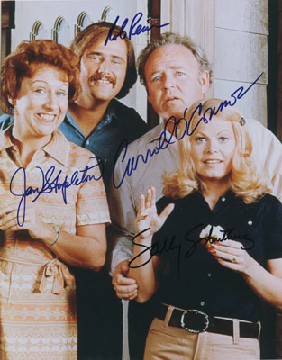 All in the Family signed autographs