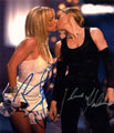Madonna and Britney Spears signed autographs