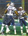 Deion Branch and David Givens signed autograph