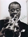 Louis Armstrong signed autographs